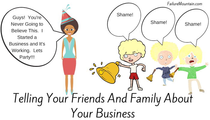 how to tell your family about your business