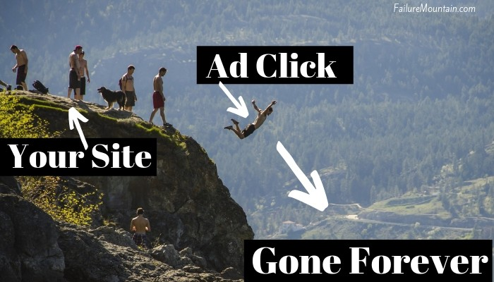 Why ads on your website is like throwing away your traffic.