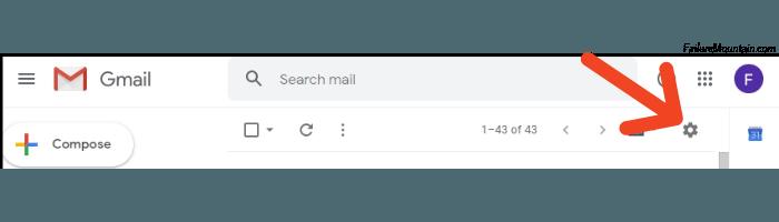 Gmail click Settings.