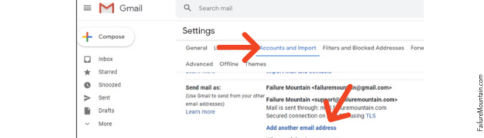 Gmail accounts and import add another email address.