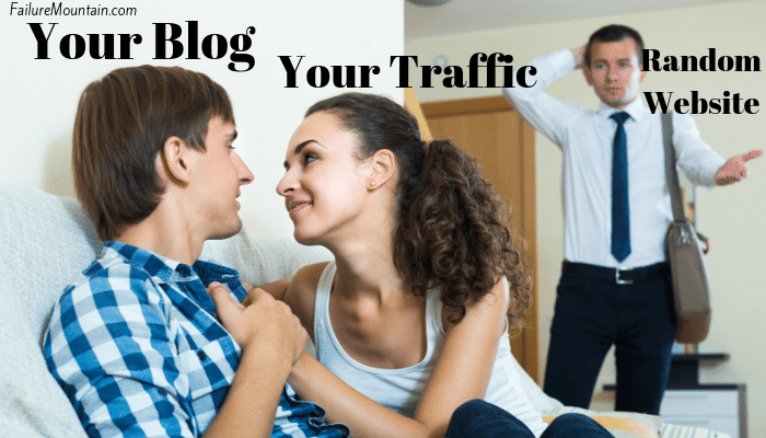 your traffic trusts your blog more than a random website funny visual representation.