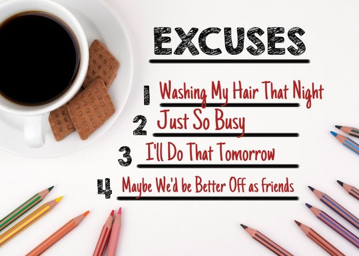 A list of lame excuses