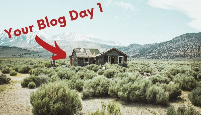 what your blog will look like after 1 day