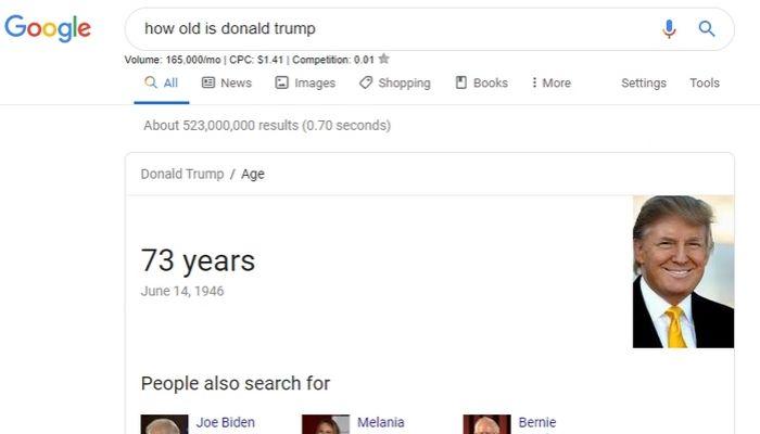 zero-click search query example