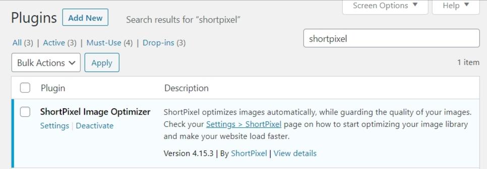 shortpixel wordpress plugin.