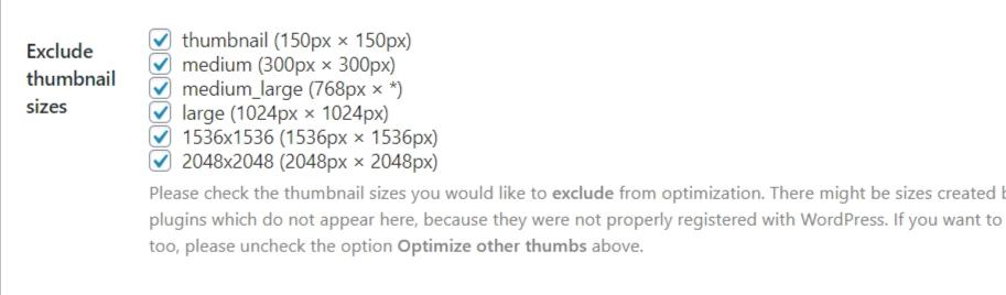 shortpixel thumbnail options turn off.