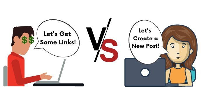 links vs content creation