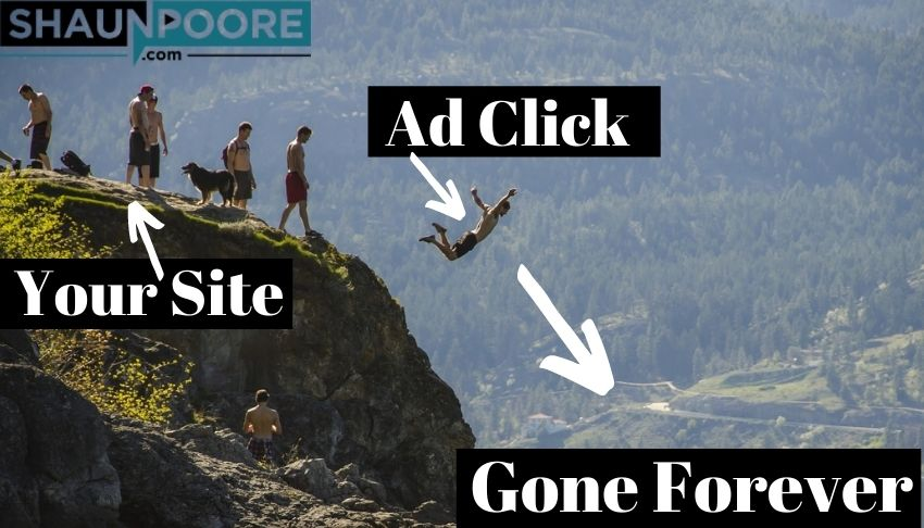 ad clicks increase bounce rate