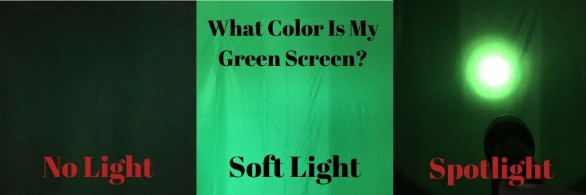 green screen color changes based on lighting