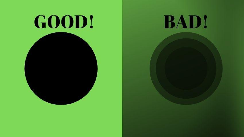 good vs bad green screen